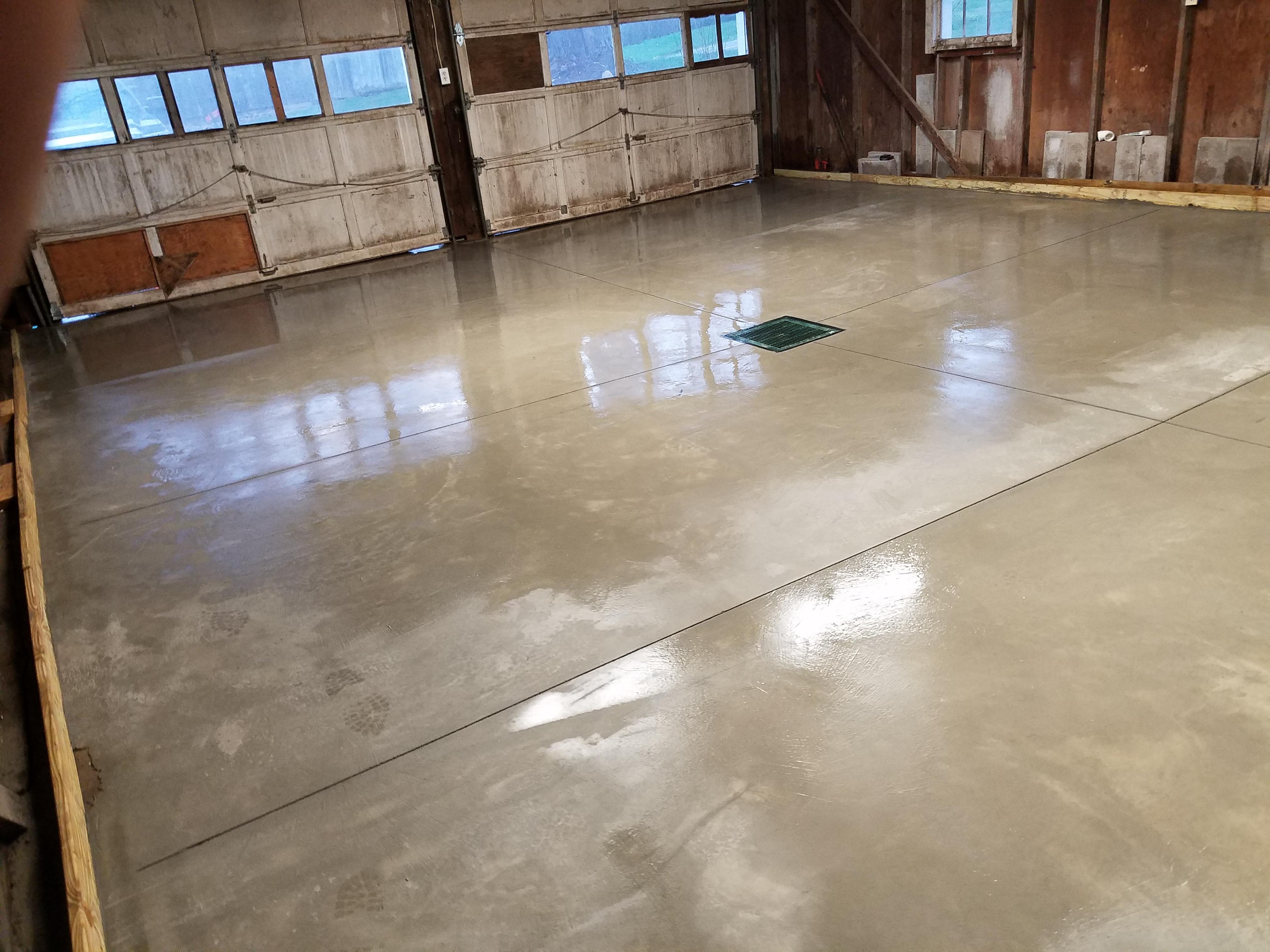 garage flooring, masonry work