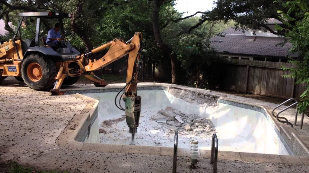 pool removal rochester, pool demolition near me